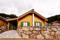 Ferienhaus Seepfadhaeusle - Wohnfläche 100 qm - Kamin - Sauna - VDSL/W-LAN im Feriendorf Rieden Eifel.